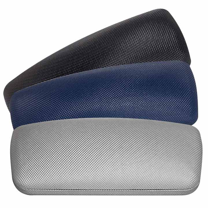 Eyeglass Cases, Hard Clamshell, textured, assorted