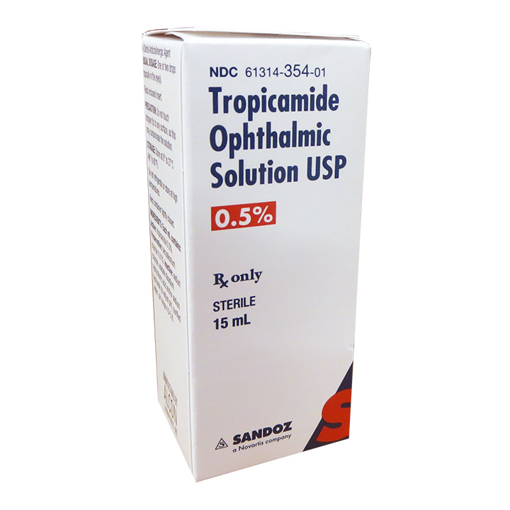 Tropicamide 0.5%, 15 ml (Sandoz)