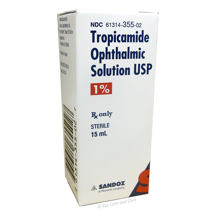 Tropicamide 1.0%, 15 ml (Sandoz)