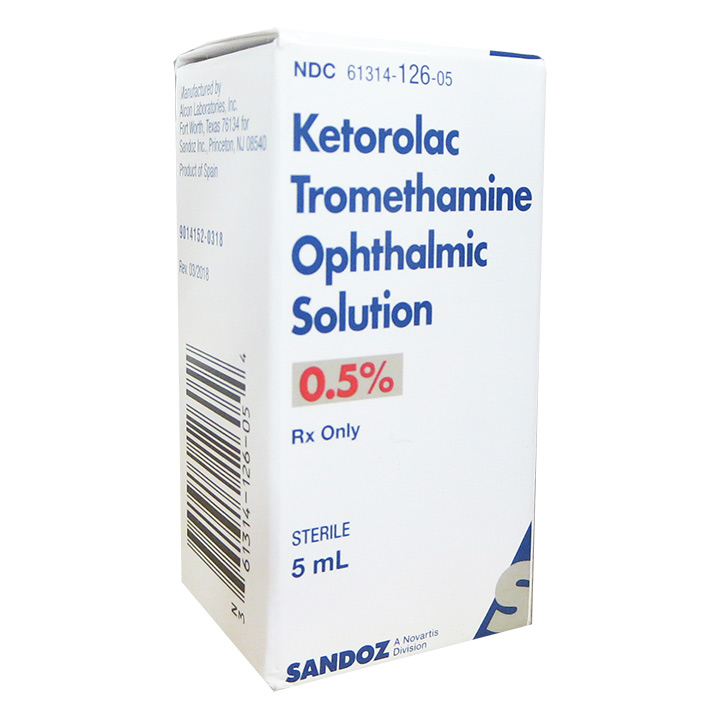 Ketorolac Tromethamine 0.5%, 5 ml (Sandoz) - NEW LOW PRICE!