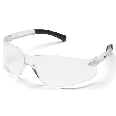Crews BearKat Safety Glasses, black/clear