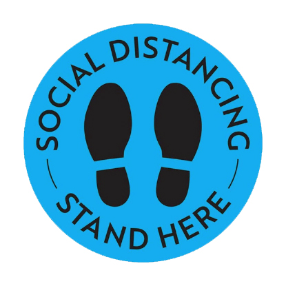 Social Distancing Floor Decal, 12