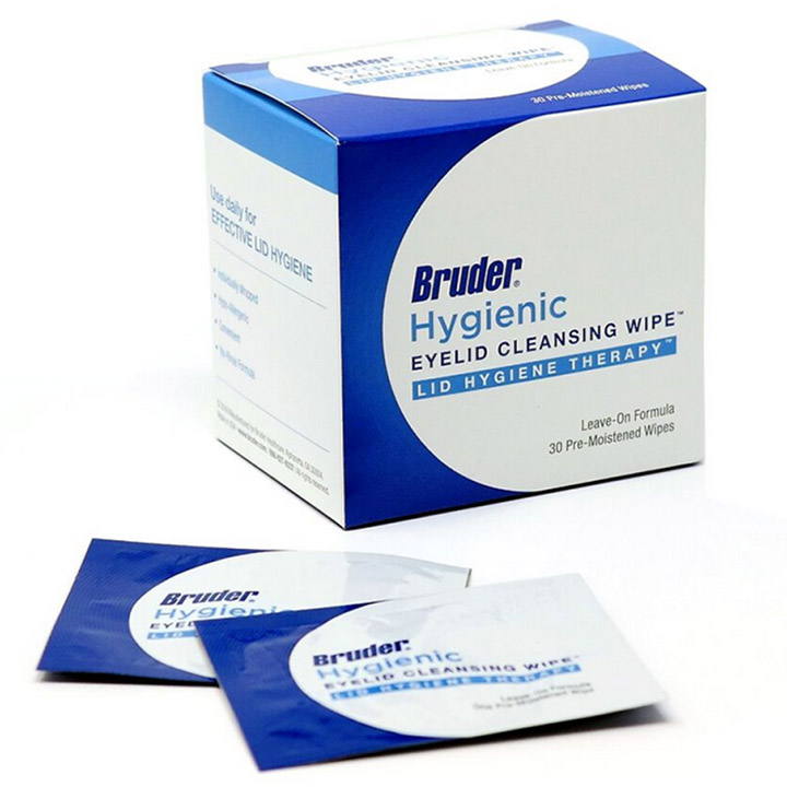 Bruder Hygienic Lid Cleansing Wipes, 30/box - ON SALE!
