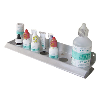 Exam Room Bottle Organizer, brushed aluminum, long - ON SALE!