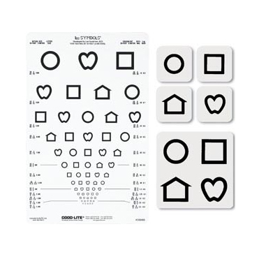 LEA Symbols® 13-Line Translucent Distance Chart Set, 10ft (3 meters)