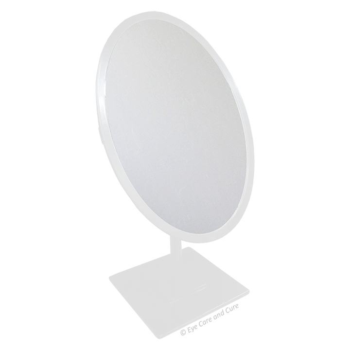 Oval Mirror, White