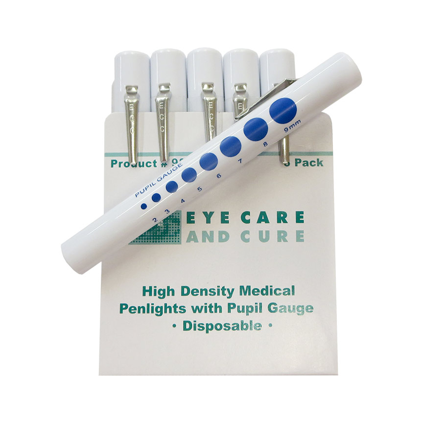Eye Care and Cure Penlights with pupil gauge, 6/pkg