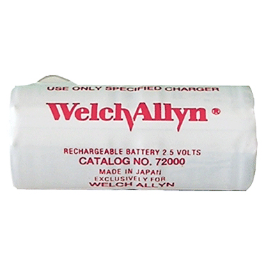 Welch Allyn ophthalmoscope handle battery, 2.5V Red