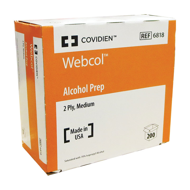 Alcohol Prep Pads, sterile, medium, Covidien™ Webcol™ - ON SALE!