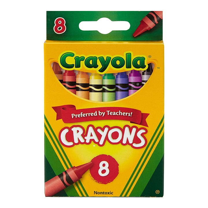 Crayons, Crayola 8/pk, assorted colors