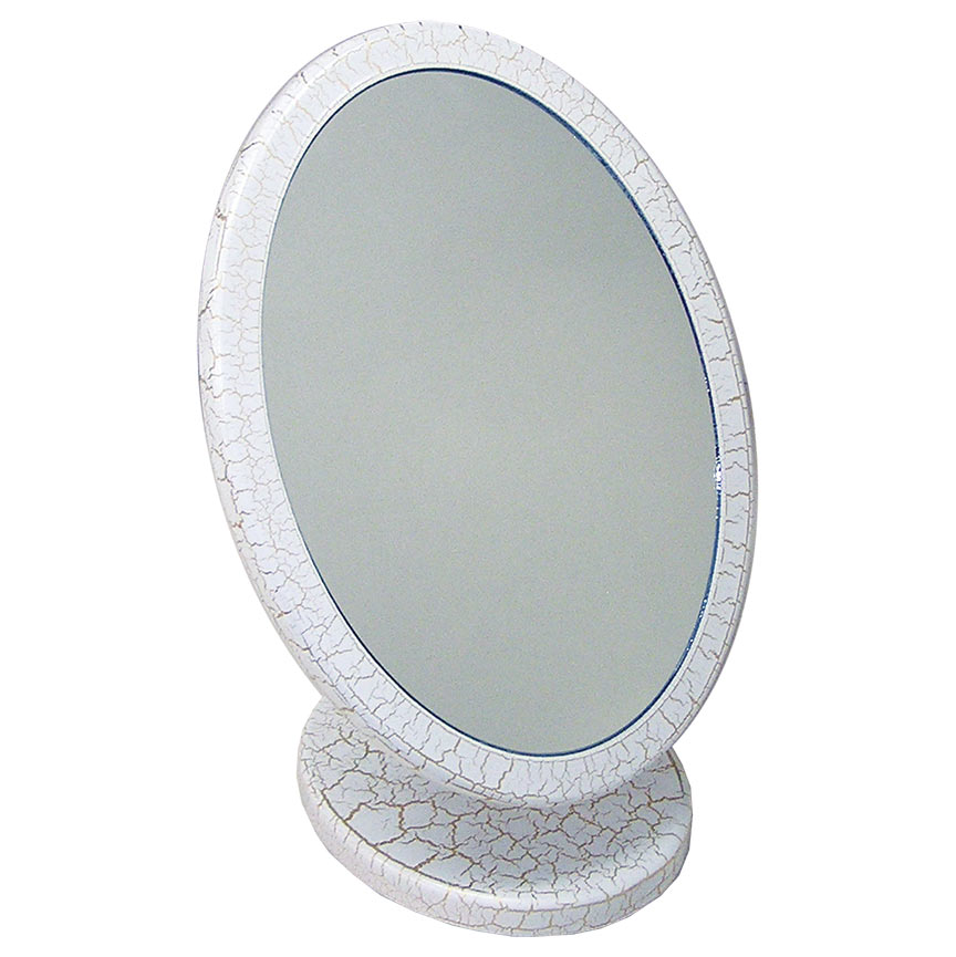 Oval Mirror, with crackle paint